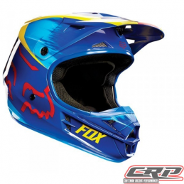 Casque cross enfant FOX V1 Youth Vandal Yellow Blue 2015