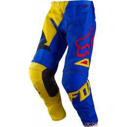 Pantalon Cross FOX 180 Youth Vandal Yellow Blue 2015