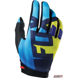 Gants Moto Cross FOX Dirtpaw Youth Vandal Yellow Blue 2015