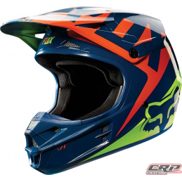 Casque cross FOX V1 Race Navy Yellow 2015