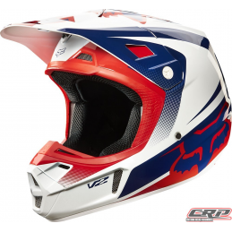 Casque cross FOX V2 Impérial White Blue Red 2015