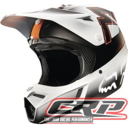 Casque cross FOX V3 Franchise Orange 2015