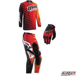 Tenue motocross THOR Youth Phase Vented Rift Red 2015