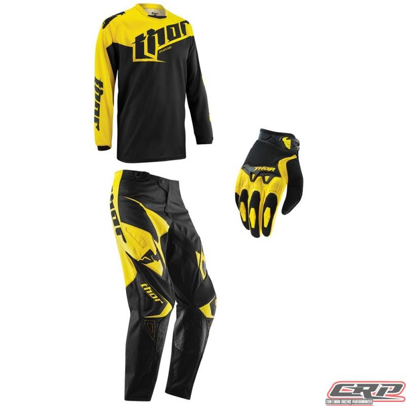 tenue motocross thor youth phase tilt yellow 2015. Black Bedroom Furniture Sets. Home Design Ideas