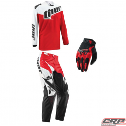 Tenue motocross THOR Youth Phase Tilt Red 2015