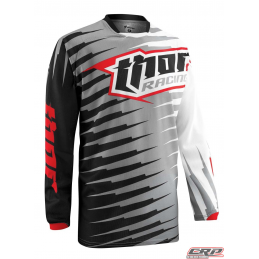 Maillot Cross THOR Youth Phase Vented Rift Gray 2015