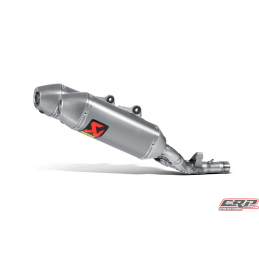Silencieux adaptable Akrapovic SLIP-ON pour HONDA CRF 250 R (2014-2015)