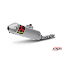 Silencieux adaptable Titane Akrapovic SLIP-ON pour HONDA CRF 250 R (2011-2013)