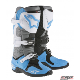 Bottes ALPINESTARS Tech 10 Cyan White Gray