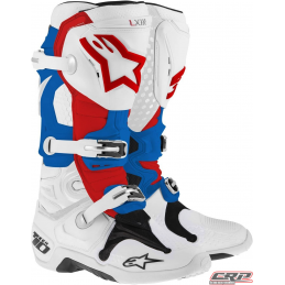 Bottes ALPINESTARS Tech 10 White Blue Red