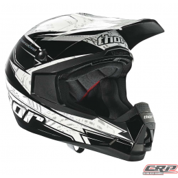 Casque cross THOR Quadrant Stripes Black 2015