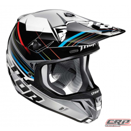 Casque cross THOR Verge Stack Black Silver 2015