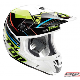 Casque cross THOR Verge Stack Flo Green 2015