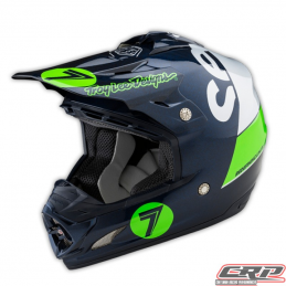 Casque Seven - Troy Lee Designs SE3 Supra Silver/Navy