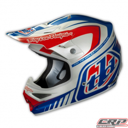 Casque Troy Lee Designs Air Delta silver/blue