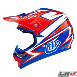 Casque Troy Lee Designs Air Charge Blanc Bleu