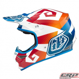 Casque Troy Lee Designs Air Vega Bleu Orange