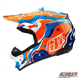 Casque Troy Lee Designs SE3 Galaxy Bleu Orange