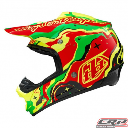 Casque Troy Lee Designs SE3 Galaxy Noir Jaune