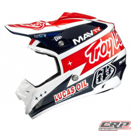 Casque Troy Lee Designs SE3 Team Blanc (Carbone)