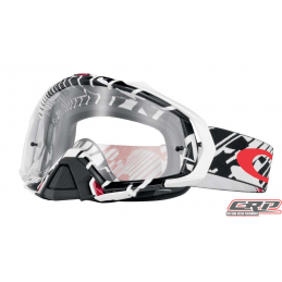 Masque Cross OAKLEY Mayhem Pro Skull Rushmore Red Black Clair