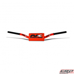 Guidon Neken fat bar 28.6mm orange Fluo