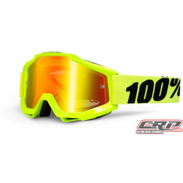 Masque Cross 100% The Accuri Fluo Yellow Miroir