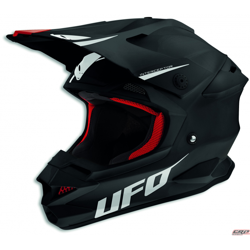 casque cross ufo interceptor 2 prime noir 2015. Black Bedroom Furniture Sets. Home Design Ideas