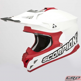 Casque cross SCORPION Vx-15 Evo Air Solid Blanc Rouge 2015