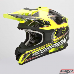 Casque cross SCORPION Vx-15 Evo Air Magma Noir Fluo Jaune 2015