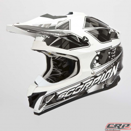 Casque cross SCORPION Vx-15 Evo Air Magma Noir Blanc 2015