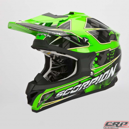 Casque cross SCORPION Vx-15 Evo Air Magma Noir Fluo Vert 2015