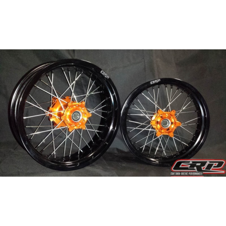 paire de roues supermotard crp wheels pour ktm. Black Bedroom Furniture Sets. Home Design Ideas